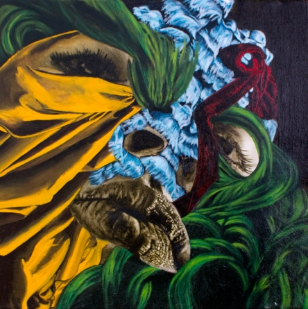 Accessory Self (Balaclava), Oil on Canvas, 16 X 16, 2013
