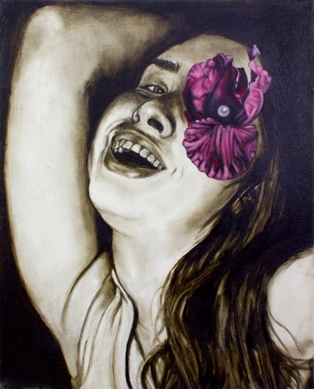 Accessory Self (Eye Patch), Oil on Canvas, 16 X 20, 2013