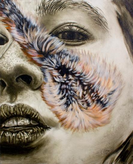 Accessory Self (Tear), Oil on Canvas, 16 X 20, 2013