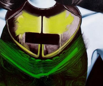 House Arrest (Detail), 5 X 7 ft., Oil on Canvas, 2014